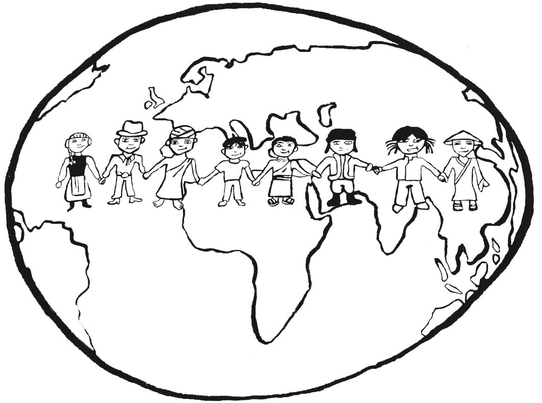 Coloriage Enfant La Terre